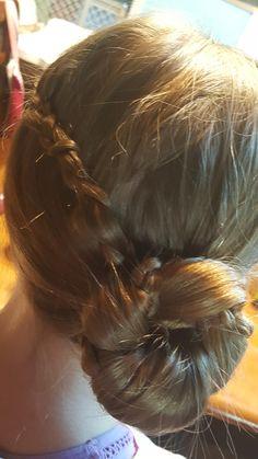 Lace braid bun easy peasy long hair styles