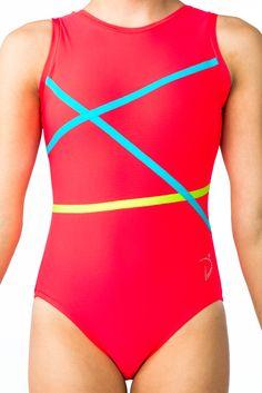 Di's Designs - Fraction - Coral - $70.48 - #leotard #gymnastics #gymnast #gymsuit
