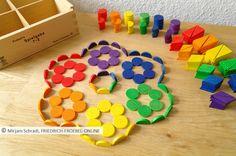 Spielgaben - Spielgabe 7 Fröbel - Legespiel geometrishe Formen - Sortiment 1. Kasten