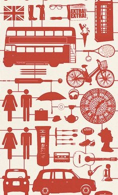 Airfix London Red Red wallpaper by Graduate Collection