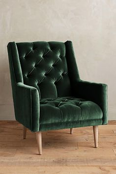 Snag this Velvet Booker Armchair from Anthroplogie for your lush living room. Plywood Furniture, Unique Furniture, Home Furniture, Furniture Design, Furniture Chairs, Chair Design, Dining Chairs, Velvet Furniture, Lounge Chairs