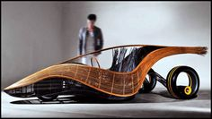 Phoenix is a futuristic bamboo car designed by Kenneth Cobonpue and Albrecht Birkner. The Phoenix is built to be a disposable car which can be discarded af Mundo Design, Bamboo Canes, Bmw I3, Automobile, Green Technology, Car Makes, New Green, Electric Scooter, First World