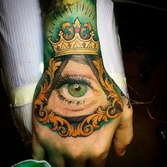 Crown tattoos for men pack a punch. They show strength, but not violent strength: crown tattoos symbolize wisdom and power, and a willingness to lead.