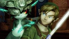 """Loved this scene from """"Twilight Princess""""!  Midna's all like, """"Let's do this, partner!"""""""