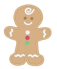 Designs :: Occasions :: Christmas :: Gingerbread Applique