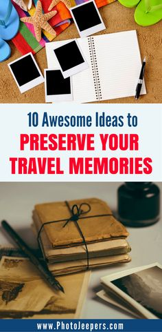 When you're traveling, you often think that there is NO WAY you will ever forget these memories, but as time goes on the memories start to fade. There are plenty of ways to document your travels so you can cherish those memories forever. We will share our ten favorite ways to preserve your travel memories so you can relive them. Make sure you save these ways to remember your travels to your board so you can find them later. #scrapbook #journal #memorykeeping