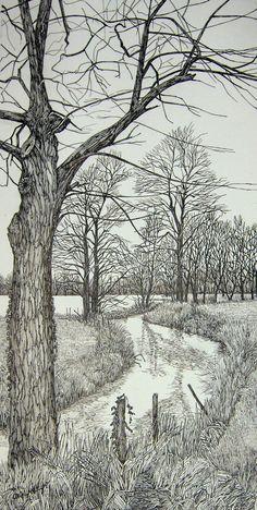 Pencil drawing trees pencil drawings pencil drawing of trees Landscape Pencil Drawings, Pencil Art Drawings, Art Drawings Sketches, Painting & Drawing, Watercolor Paintings, Woodcut Art, Nature Sketch, Amazing Drawings, Art Challenge