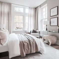 Home Decorating Style 2020 for 47 Luxury Comfy Bedroom Design Ideas, you can see 47 Luxury Comfy Bedroom Design Ideas and more pictures for Home Interior Designing 2020 19619 at Home To. Contemporary Bedroom, Modern Bedroom, Master Bedroom, Master Suite, Neutral Bedrooms, Masculine Bedrooms, Master Master, White Bedrooms, Bedroom Simple