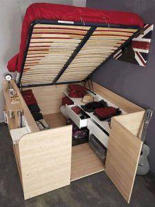 Bureau et lit 2 en 1 pour petite chambre