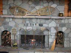 flagstone fireplace.. Stone placement idea flagstone!  Great idea!!!