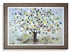Ulyana Hammond - Watch Tree AF4098 Wrapped canvas, hand embellished with acrylic glaze and vintage watch faces Artist: Ulyana Hammond Size: H 83cm x W 115cm x D 3cm (H 32.7in x W 45.3in x D 1.2in)  Weight: kg