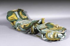 Yves Marthelot, vers 1980 Siège sculpture et son ottoman Passementerie  60