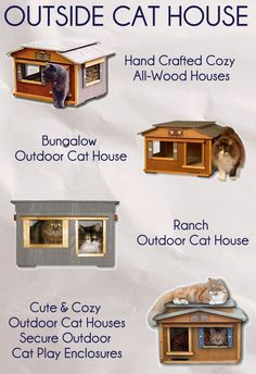 Outdoor cat house http://www.catbedandtoy.com/outdoorcathouse