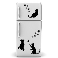 Wall decal Cats and footprints