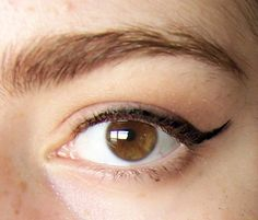 Winged liner for hooded eyes.