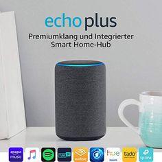 Echo Plus Gen.), mit Premiumklang und integriertem Smart Home-Hub, Anthrazit Stoff Alexa App, Alexa Echo, Sonos, Rss Feed, Amazon Echo, Philips Hue Lampe, Wi Fi, Hub Home, Amazon Gadgets