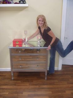 DIY mirrored dresser... If only there was a way to cut the cost down even more. Seems silly when you can buy them at home sense for $200..