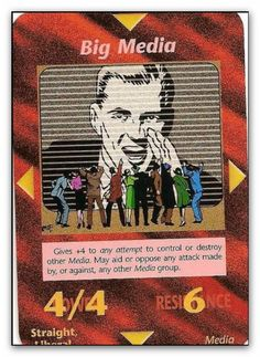 """In 1990, role-playing inventor, Steve Jackson, was planning his newest game, which he would ultimately call the """"Illuminati -- New World Order"""" Game, or """"INWO"""" for short. Jackson was creating a game that would hit very, very close to home. Published in 1995 - big media"""