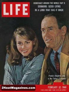 Life Magazine February 22, 1960 : Cover - Henry and Jane Fonda.