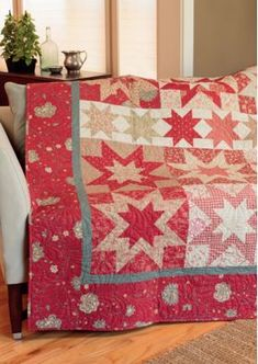 Let designer Gerri Robinson toss you a lifesaver! Click through to see beautiful quilts from her new book, A Cut Above: Turn Charm Squares, Strips, and More into Beautiful Patchwork. Star Quilt Blocks, Star Quilt Patterns, Star Quilts, Amish Quilts, Two Color Quilts, Blue Quilts, Quilting Tutorials, Quilting Designs, Quilting Tips