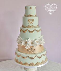 Wedding Cakes - The Whimsical Cakery - Elegant bespoke wedding cakes and dessert tables. Wedding Cakes Northamptonshire.