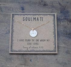 soulmate  .  silver or goldfill layering necklace  .  gift for girlfriend gift for wife  .  unique valentines gift