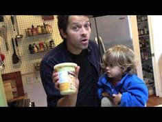Learn Everything You Need To Know About Cooking From Misha Collins And His Son. Holy crap, Castiel has a kid. Kute too!