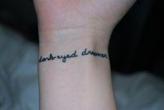 """dark eyed dreamer"" - Circles, All Time Low tattoo"