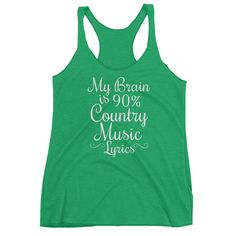 My Brain is 90% Country Music Women's Racerback Tank