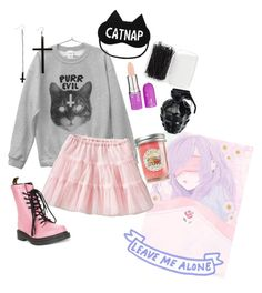pastel goth #4 by red-foxess-and-wolf on Polyvore featuring polyvore, fashion, style, Dr. Martens, Forever 21, Lime Crime, MollaSpace, Old Navy and BCBGeneration