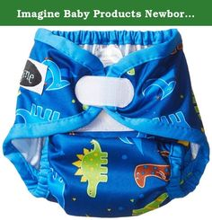 Imagine Baby Products Newborn Hook and Loop Diaper Cover, Rawr. This reusable newborn diaper cover is completely waterproof, yet breathable. It features double leg gussets to contain even the biggest newborn mess. The interior is wipeable so it can be used multiple times before washing. The gathered elastic in the front of the diaper allow room for your little one's umbilical cord stump to heal.