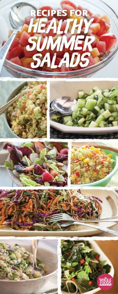 8 fantastically delicious and healthy salads for summer! #summer #salad #recipe