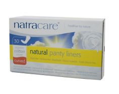 Natracare Natural Panty Liners, Curved, 30 Count Boxes (480 Liners) (Pack of 16) by Natracare. $55.36. Healthier by nature. Non-chlorine bleached. Perfume free. Plastic-free. Biodegradable. Extra soft cover. Natural materials. Absorbent layer. Biodegradable layer. Leakage protection. Adhesive layer for secure hold. Extra soft cover to keep you dry and comfortable. Natracare feminine hygiene products were created in 1989 by Susie Hewson out of concern for the d...