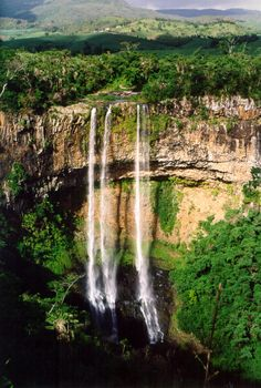 Chamarel waterfall - Mauritius: 30 minutes drive from Tamarin Beach Apartments Mauritius. www.tamarinbeachapartmentsmauritius.com