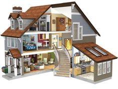 There are many types and styles of furniture dolls house and one of the most advanced projects is household furniture modern doll. Modern furniture dollhouse is