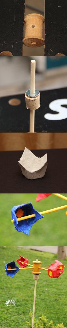 Measure wind speed with a DIY Anemometer. An Original #kids #craft by www.piikeastreet.com #piikeastreet