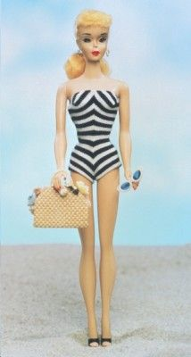 1959 barbie. Used to play with this Barbie at my Nana's house!