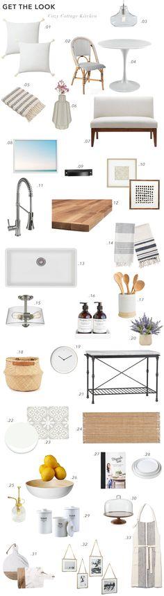 Cozy Coastal Cottage kitchen design board