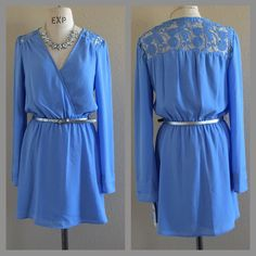 Blue Bell Sleeves A-Lined Dress