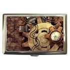 Steampunk Watch And Gears Cigarette Case Credit Card Money Wallet - card, Case, Cigarette, credit, gears, money, Steampunk, Wallet, Watch