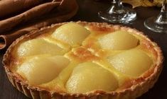 Need a no-fuss dessert? Try this simple pear and almond tart Pear And Almond Tart, Czech Recipes, Shortcrust Pastry, Toasted Almonds, Easy Desserts, Ricotta, Food To Make, Food And Drink, Cooking Recipes