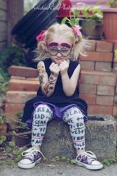 Angry Birds tattoos - Little punk tattoo kid
