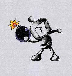 Camiseta Bomberman - Véi Nerd