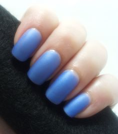 This is a bright neon grape color matte polish. It has a lovely shimmer to it.Wear alone for a matte appearance, or add a top coat to add beautiful shine to this shimmery polish. First photo shows two coats with no top coat.Second photo is with a top coat added.