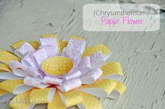 Spring Paper Flower Tutorial