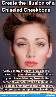 Face Makeup - Create the Illusion of Chiseled Cheekbone