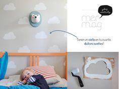 Estampar nubes en la pared Paint clouds on your wall