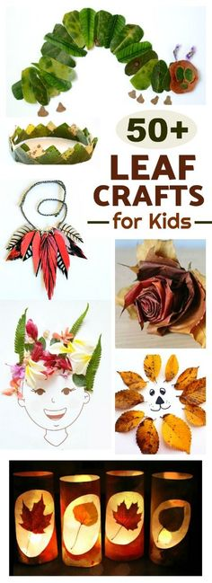 50 AMAZING LEAF CRAFTS FOR KIDS- tons of ideas I've never seen! Pin for later!