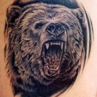 realistic black bear shoulder tattoo - Google Search