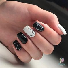 Make an original manicure for Valentine's Day - My Nails Line Nail Designs, Orange Nail Designs, Short Nail Designs, Dark Nail Designs, Stylish Nails, Trendy Nails, Cute Nails, My Nails, Zebra Nails